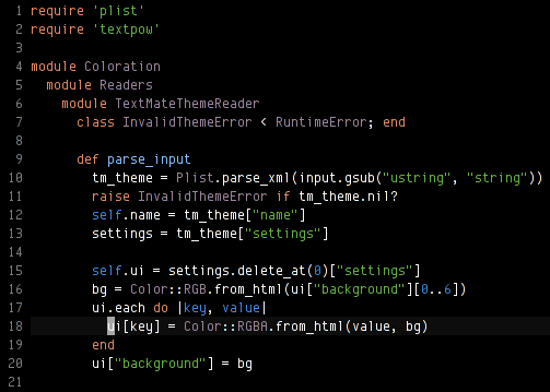 Announcing Coloration, editor color scheme converter - Marcin Kulik